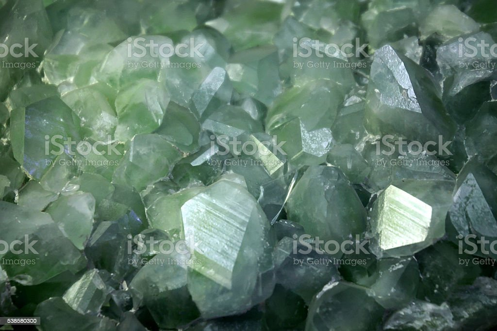 Datolite crystalsl background stock photo