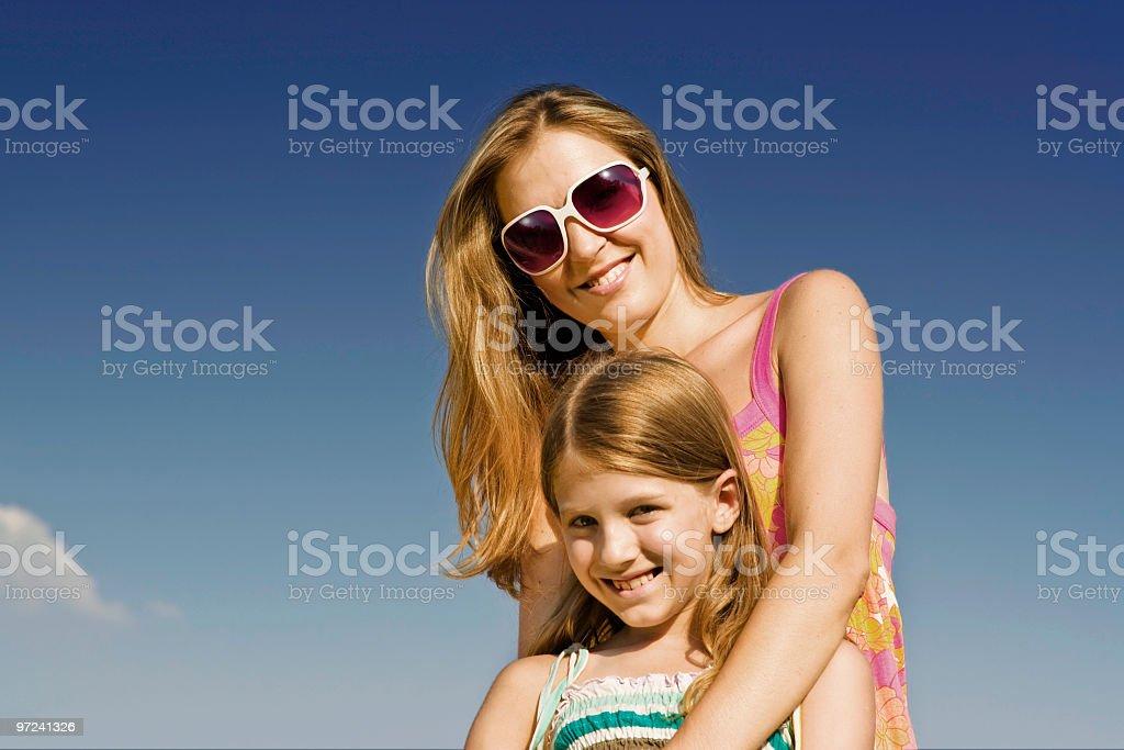 Daugher with mum royalty-free stock photo