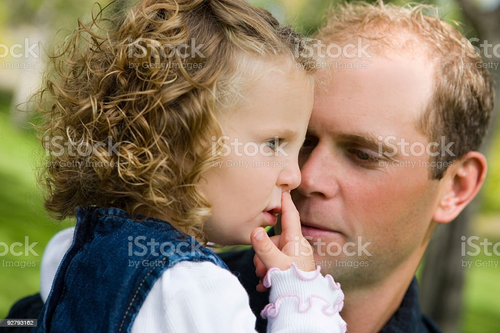 Daughter and Father stock photo