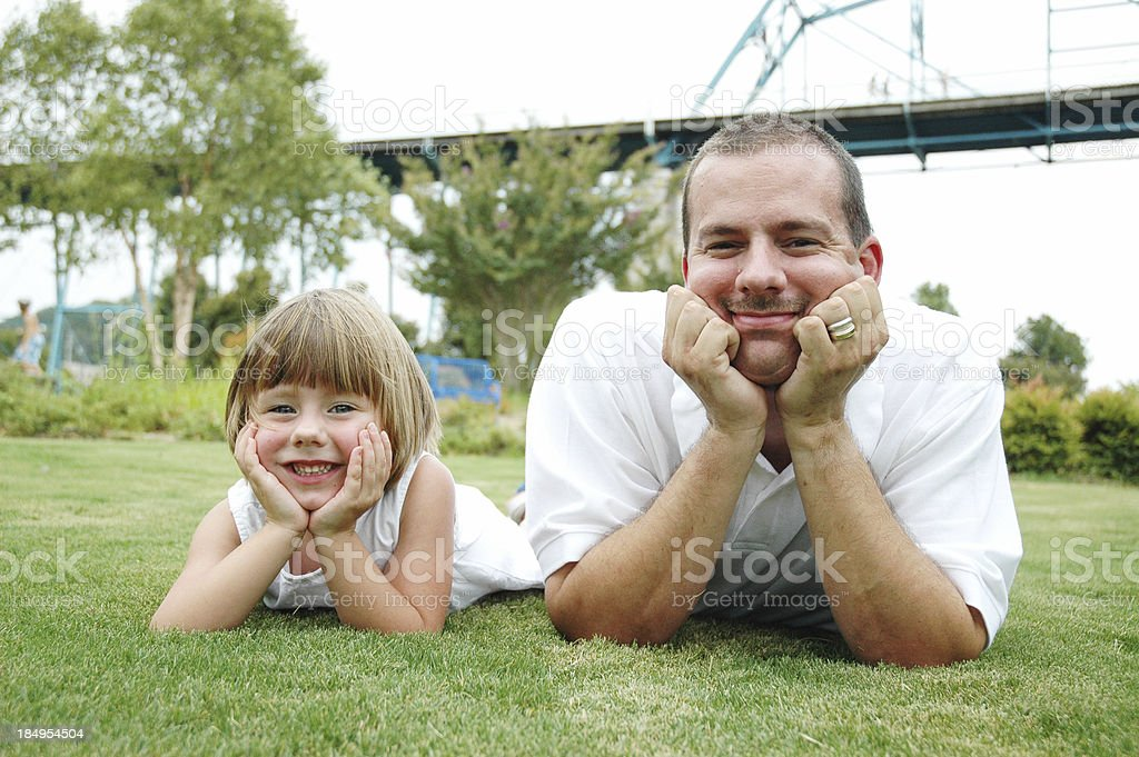 Daughter  & Daddy royalty-free stock photo