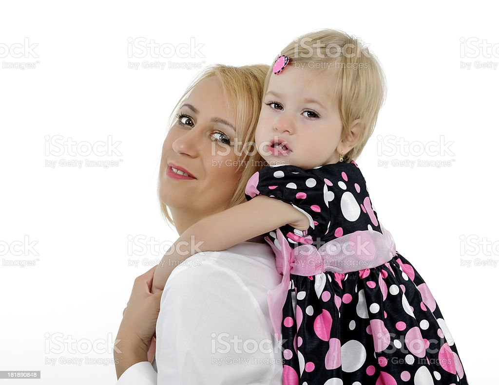 daughter embracing mother royalty-free stock photo