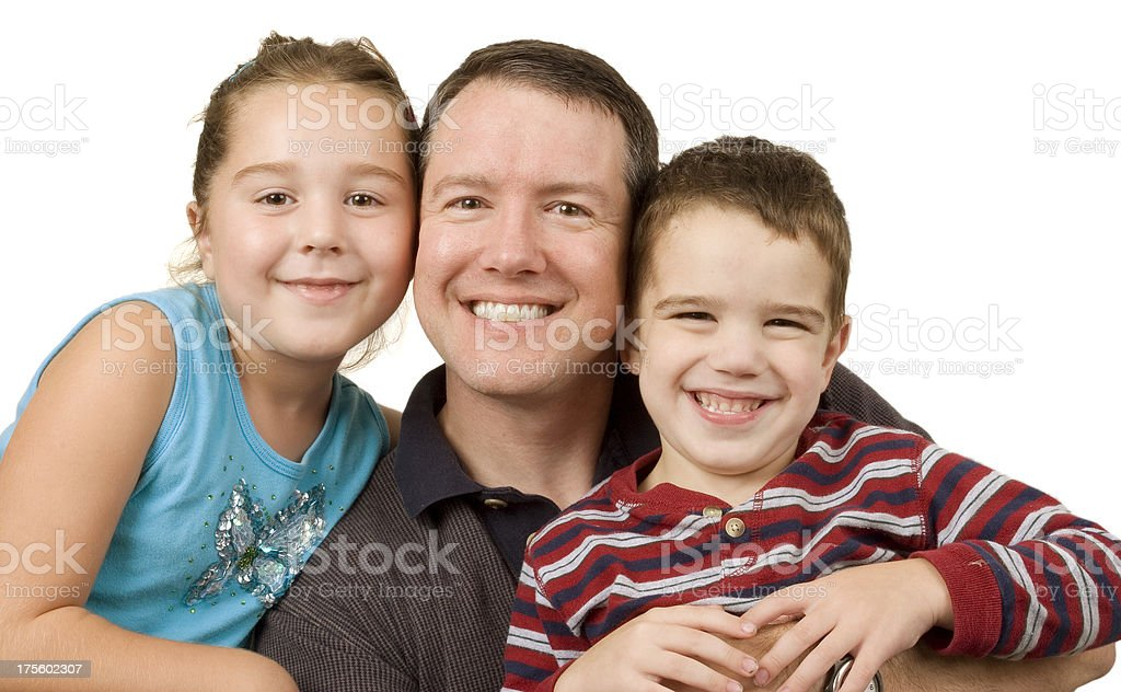 Daughter, Father, Son royalty-free stock photo
