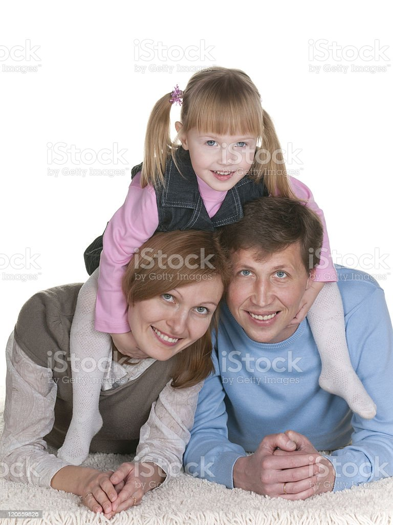 Daughter joins family royalty-free stock photo