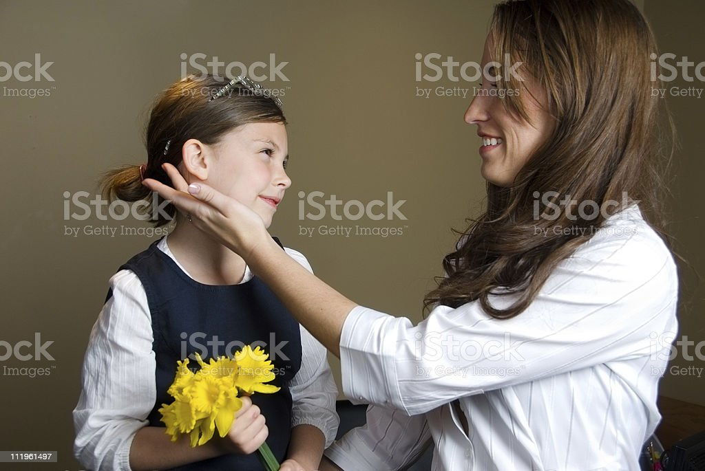 Daughter with her mother stock photo