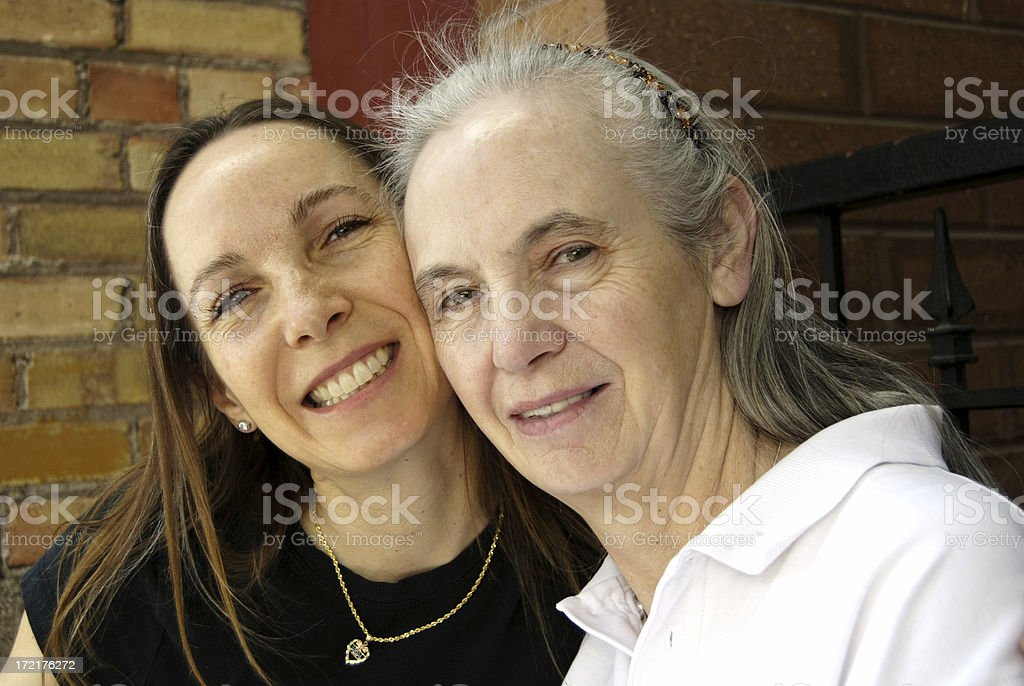 Daughter/45 and Mother/67 royalty-free stock photo