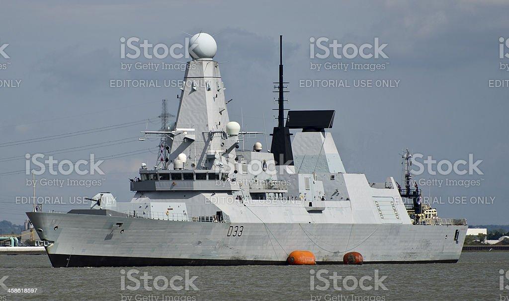 HMS Dauntless stock photo
