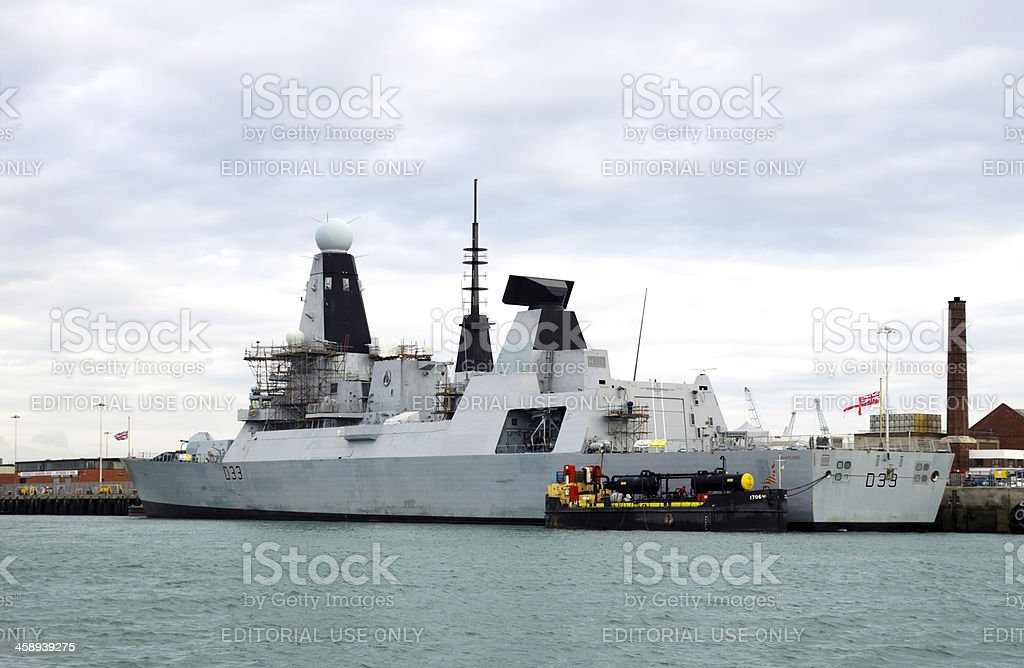 HMS Dauntless, Portsmouth stock photo