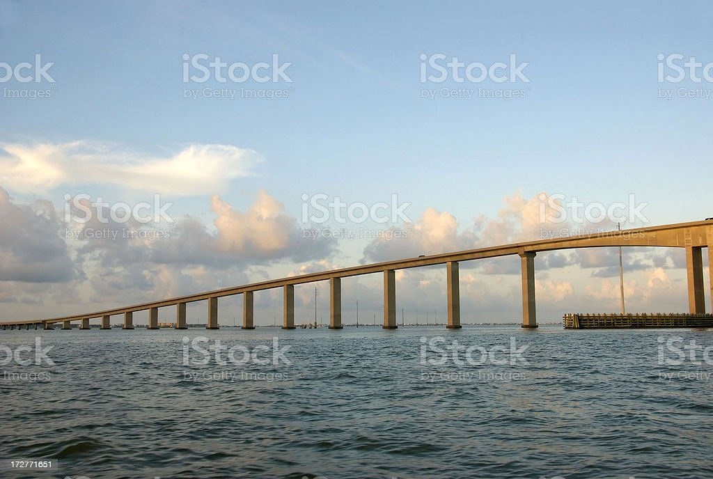 Dauphin Island Bridge at Sunrise stock photo