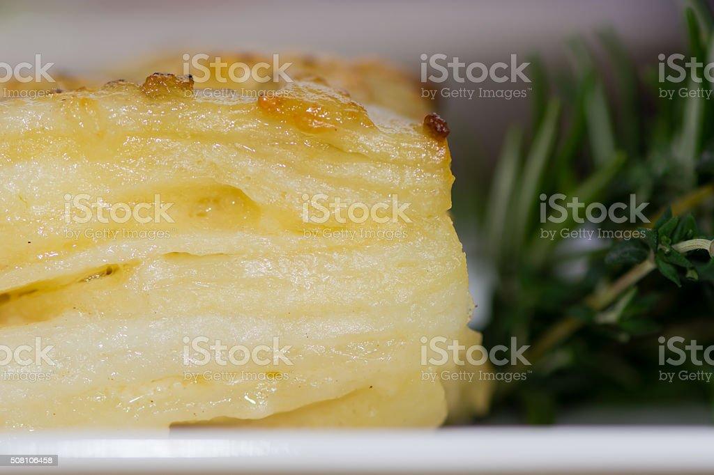 Dauphinois potato stock photo