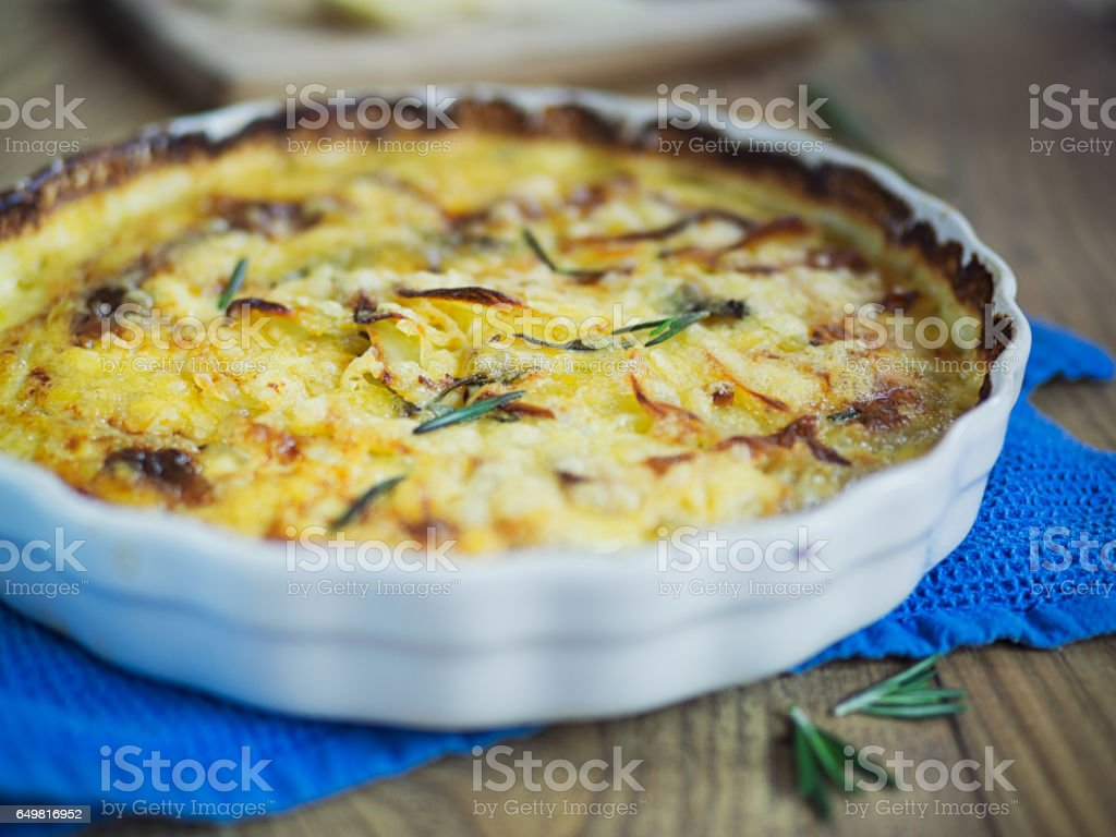 dauphinoise potatoes stock photo