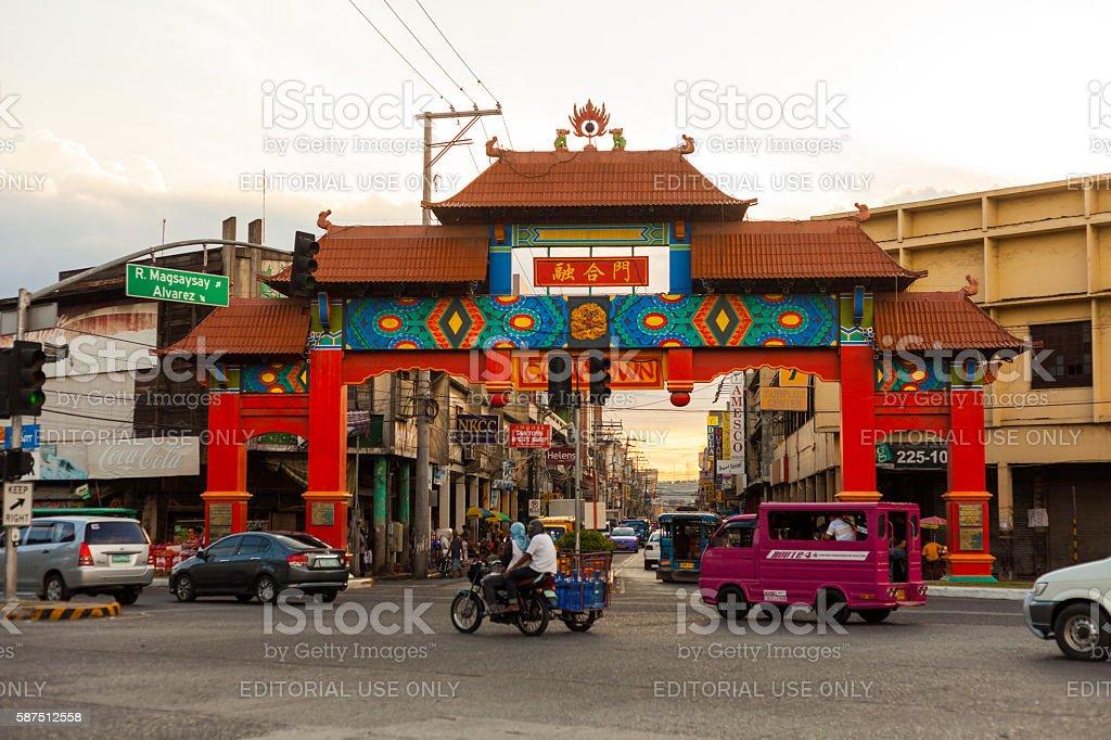 Davao Chinatown stock photo