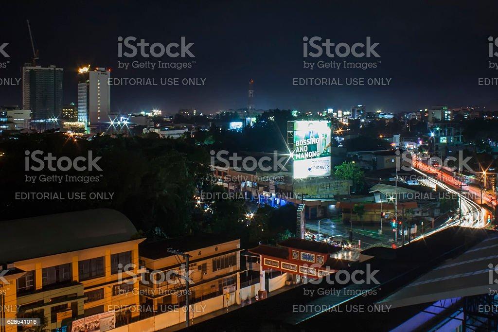 Davao City at night stock photo