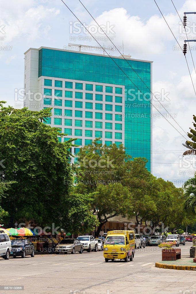 Davao City street in summer stock photo