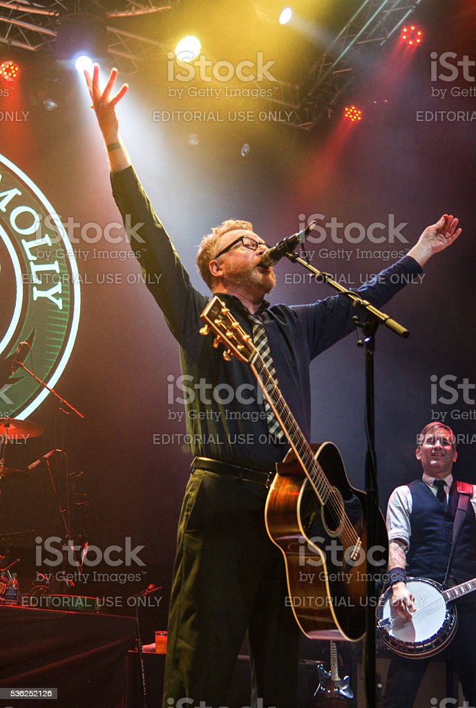 Dave King and Bob Schmidt with Flogging Molly in Dallas stock photo