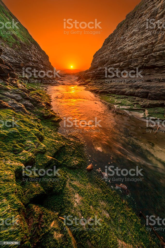Davenport Beach near San Francisco stock photo