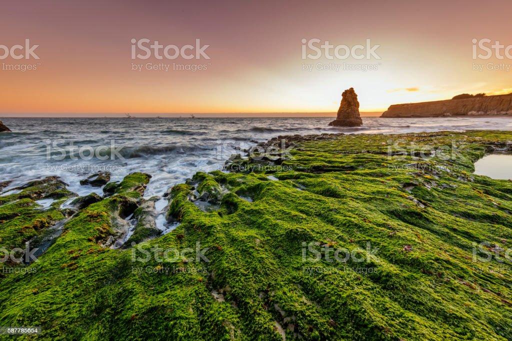 Davenport Beach near San Francisco stock photo
