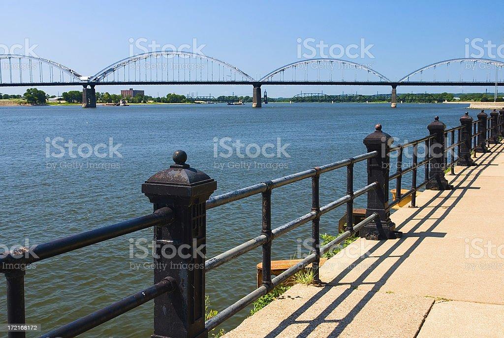 Davenport, Iowa Riverfront royalty-free stock photo
