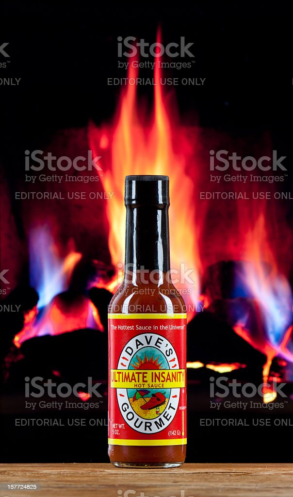 Dave's Gourmet - Ultimate Insanity Hot Sauce stock photo