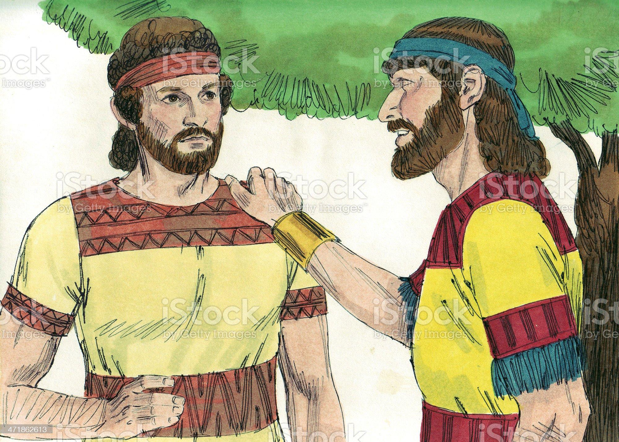 David and Saul's Son, Jonathan royalty-free stock photo