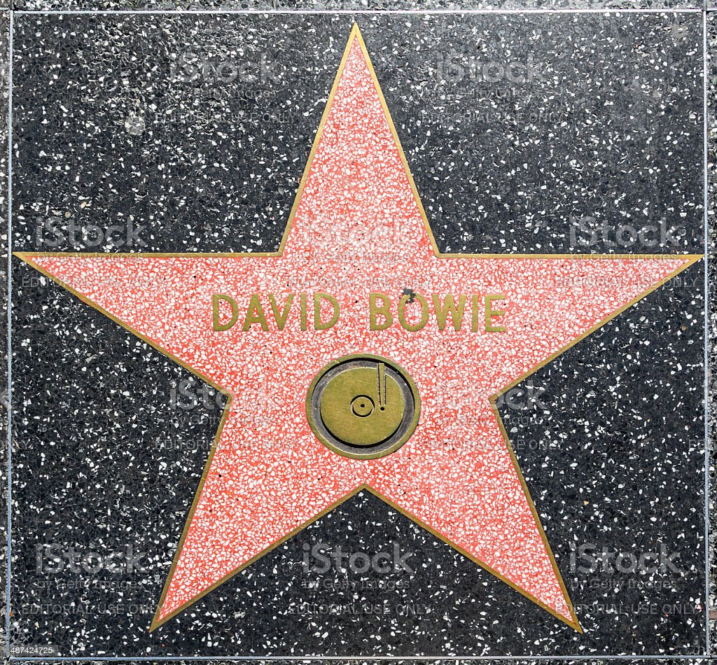 David Bowie's star on Hollywood Walk of Fame stock photo