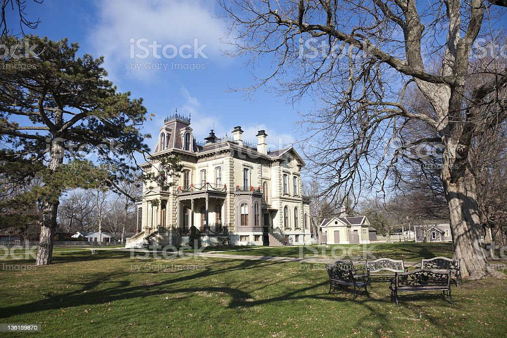 David Davis Historic Mansion in Blomington, Illinois stock photo