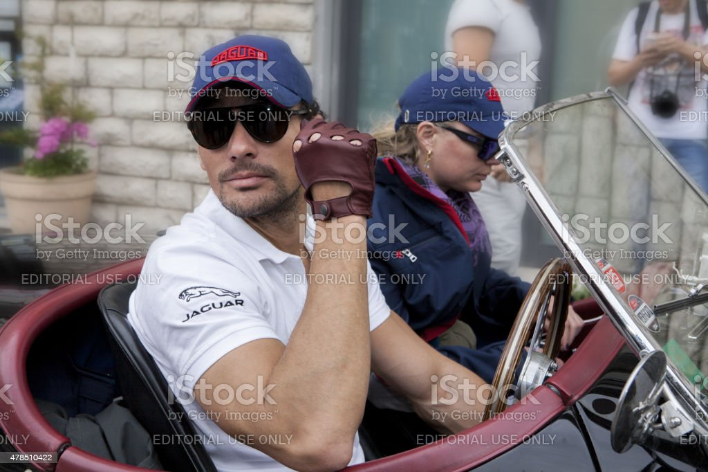 David Ghandy in the Mille Miglia 2015 stock photo