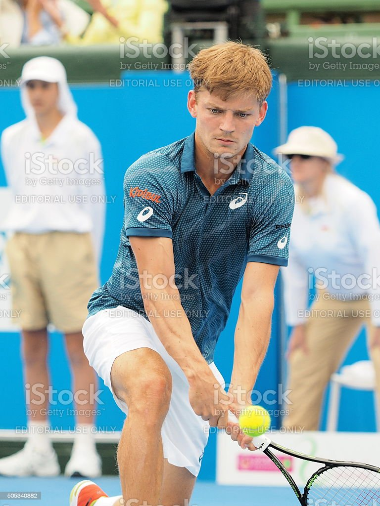 David Goffin focus on ball stock photo