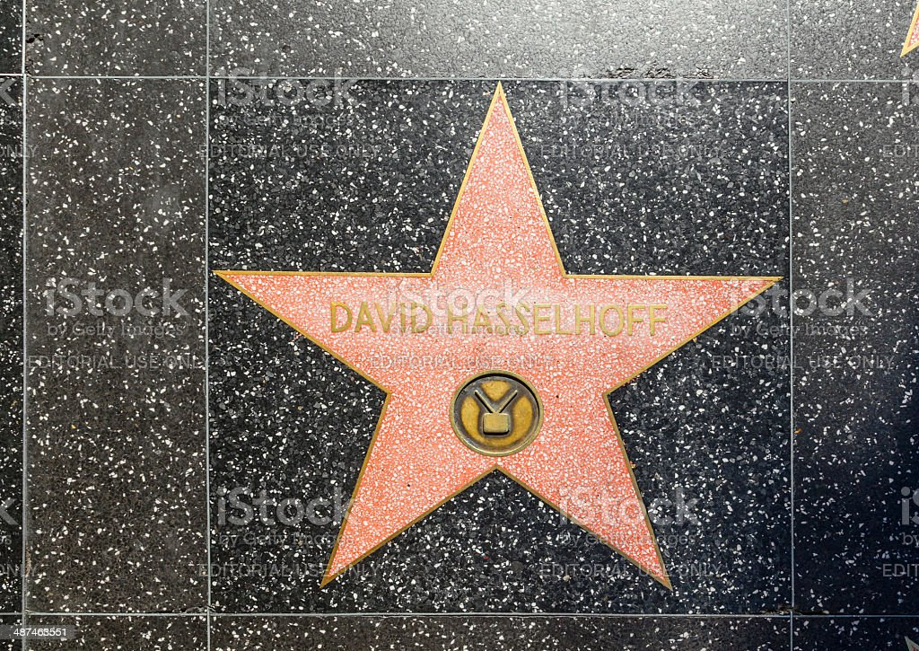 David Hasselhoff's star on Hollywood Walk of Fame stock photo