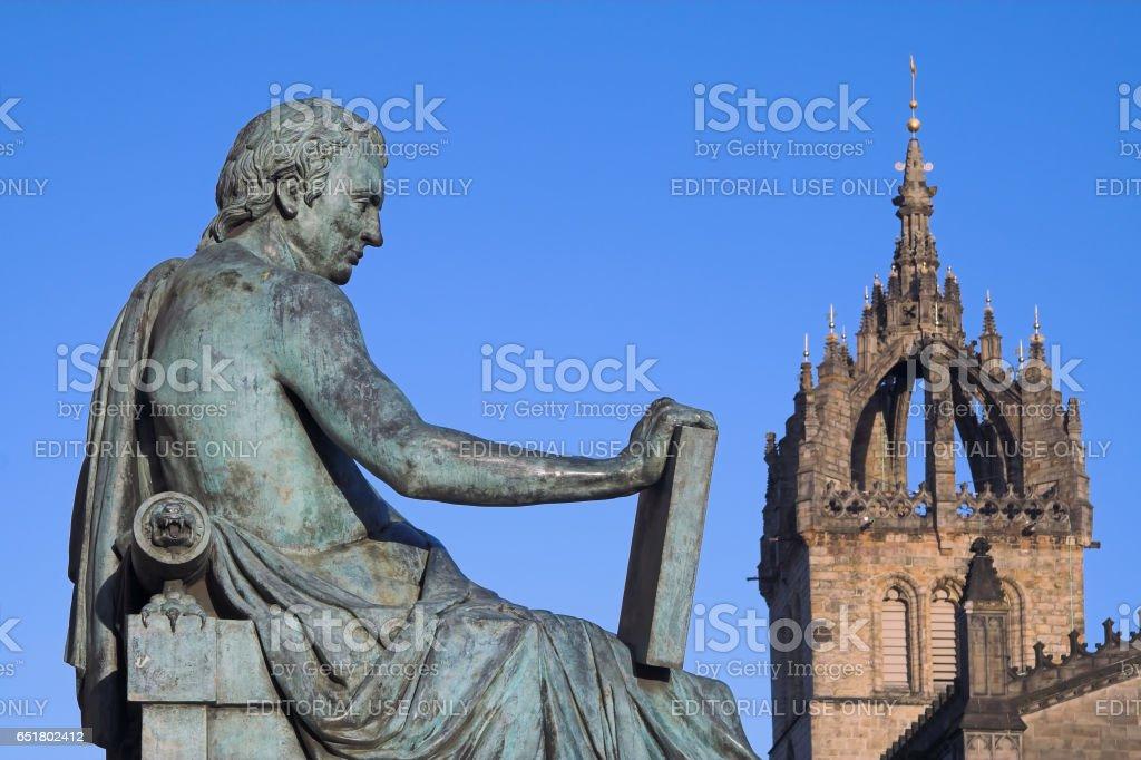 Royal Mile, Edinburgh, Scotland - March 5, 2009: David Hume Monument stock photo