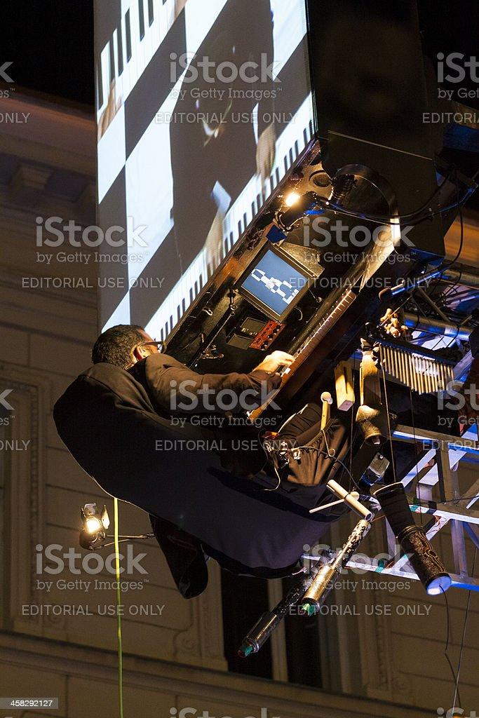 David Moreno and Floten Tecles show stock photo