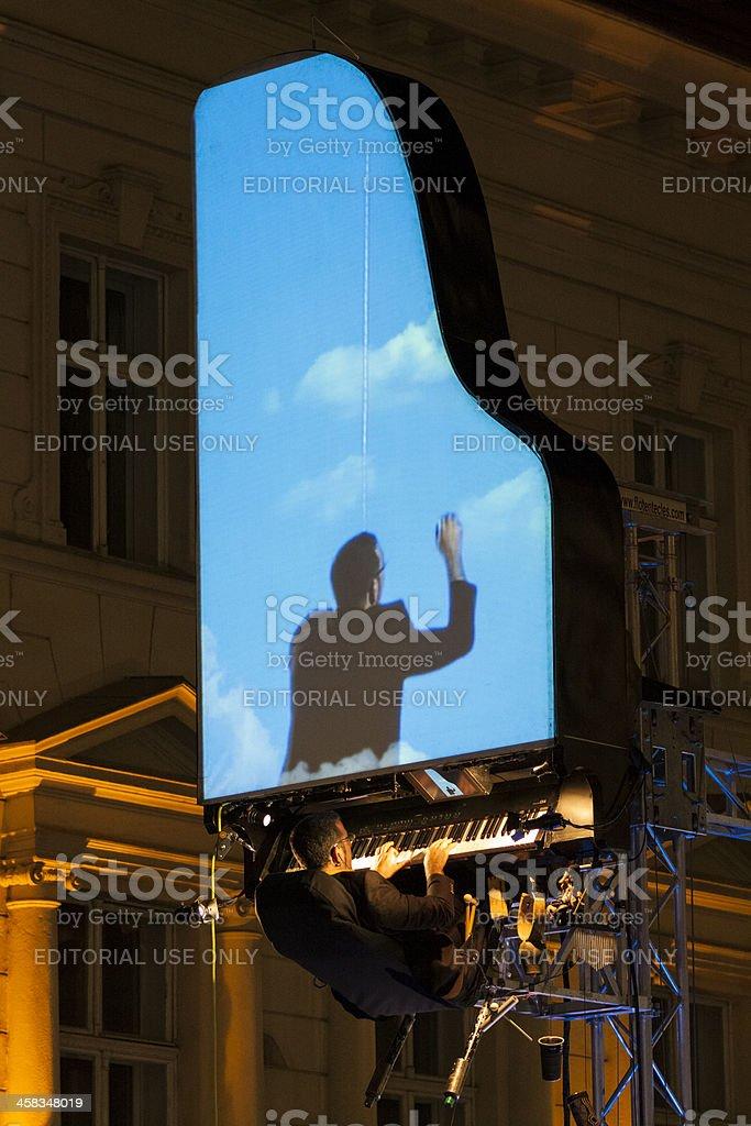 David Moreno performance in Bucharest, Romania stock photo