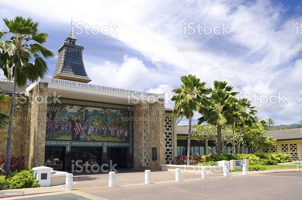 David O. McKay Center at Brigham Young University - Hawaii stock photo