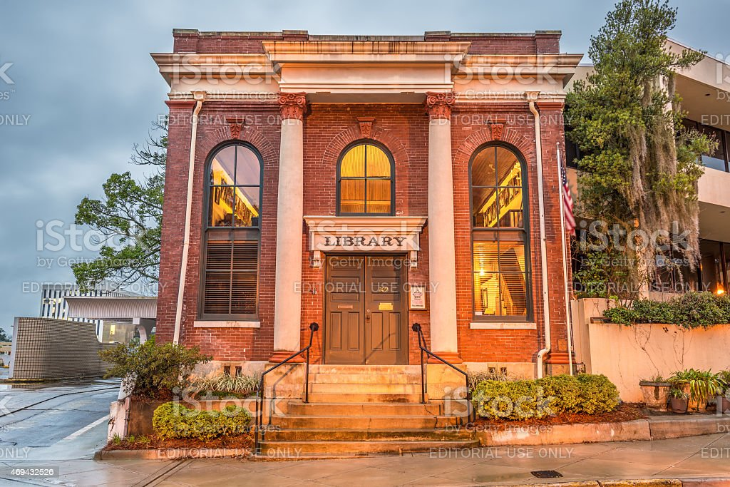 David S. Walker Library in Tallahassee, Florida stock photo