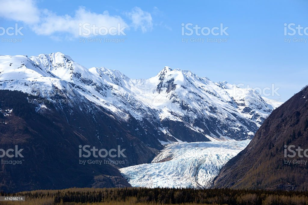 Davidson Glacier stock photo