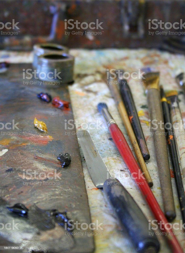 DaVinci's Toolbox stock photo