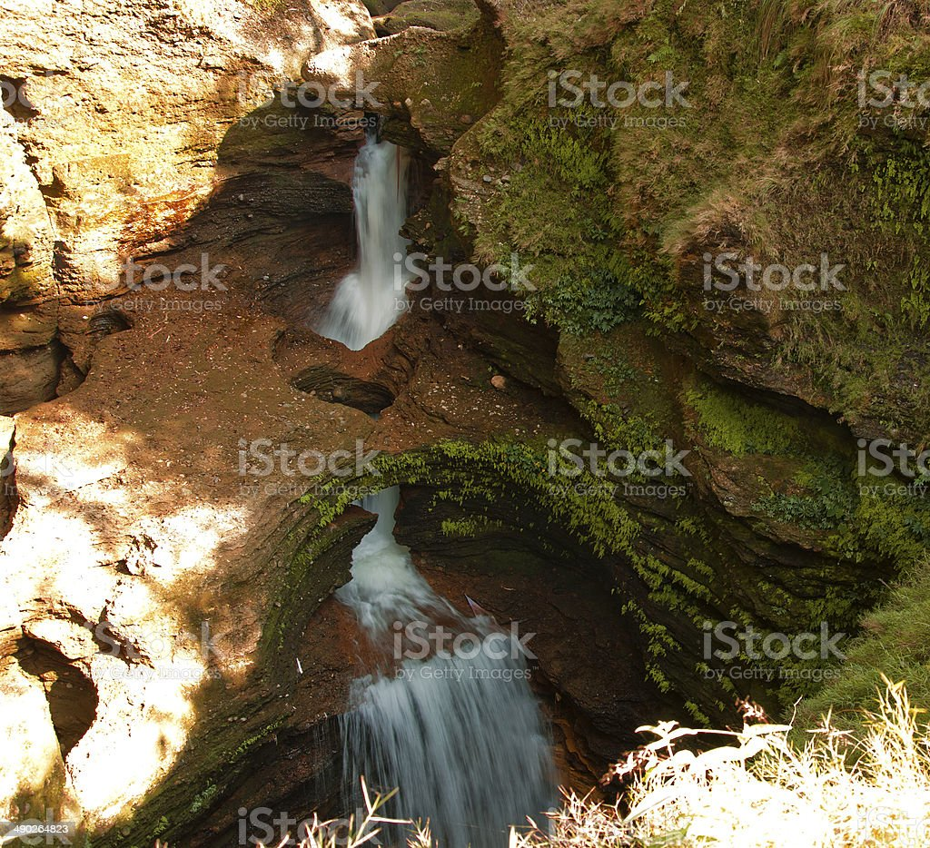 Davis fall in Pokhara stock photo