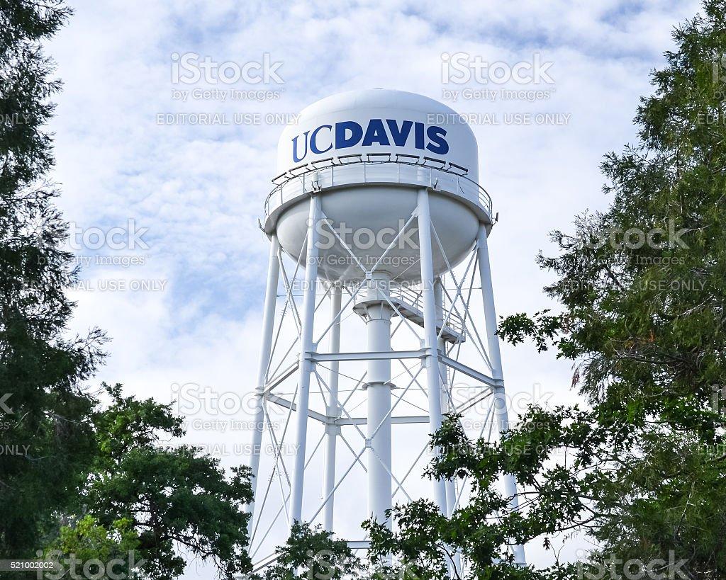UC Davis's water tower stock photo