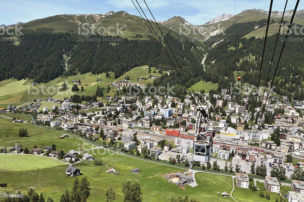 Davos, Graubünden, Switzerland royalty-free stock photo