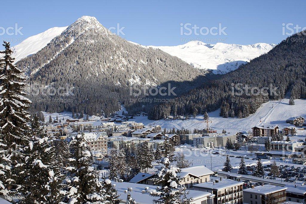 Davos Panorama royalty-free stock photo