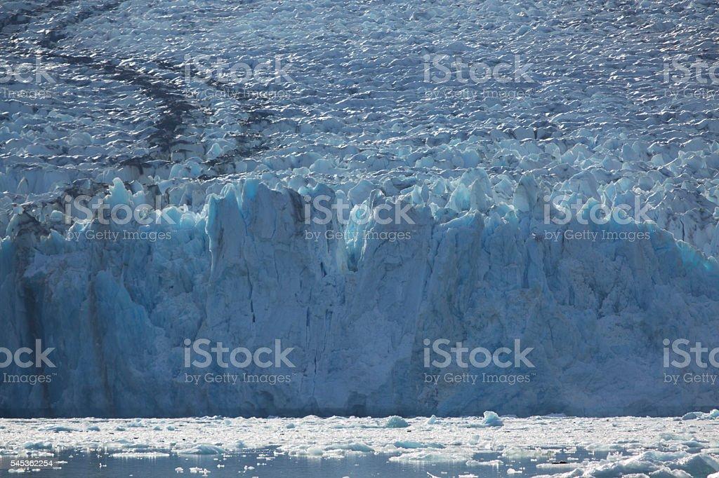Dawes Glacier, Alaska stock photo