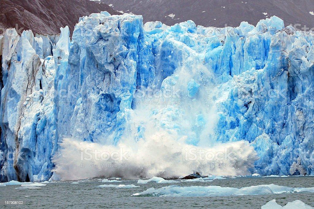 Dawes Glacier calving royalty-free stock photo