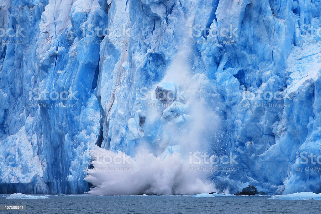 Dawes Glacier calving stock photo