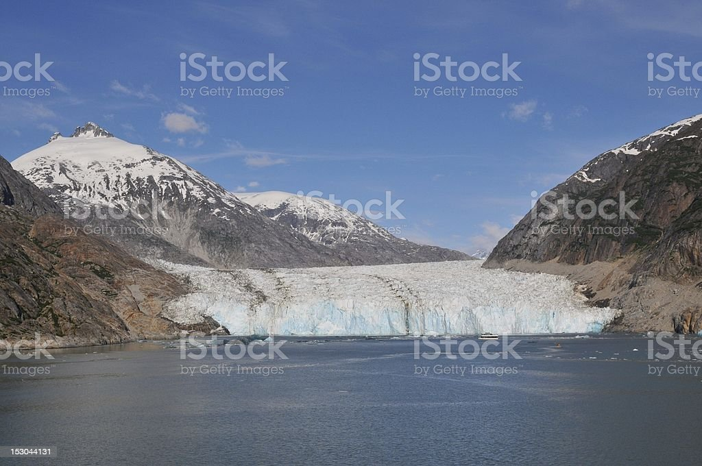 Dawes Glacier in Alaska. stock photo
