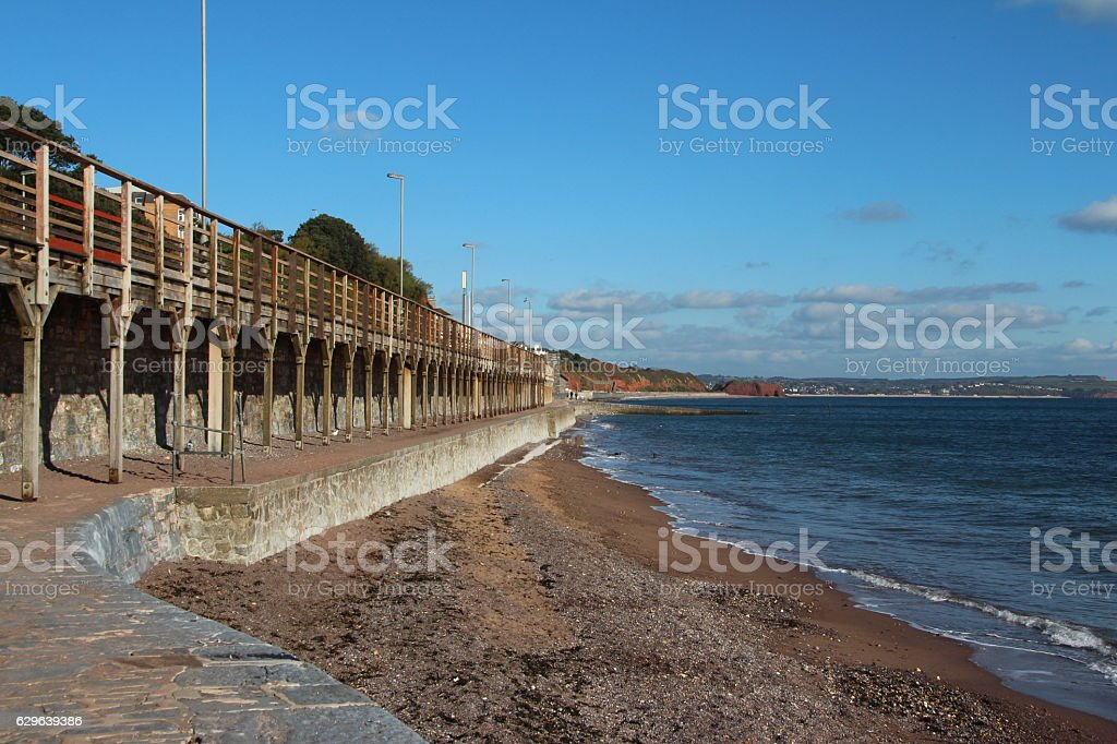 Dawlish coast stock photo