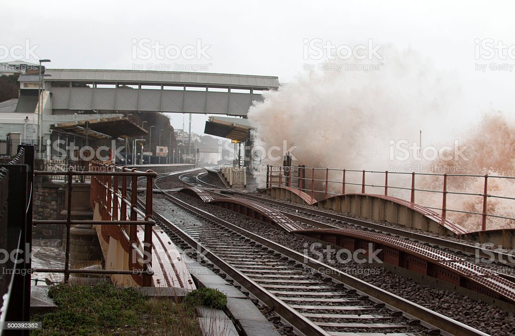 Dawlish Devon Railway Station stock photo