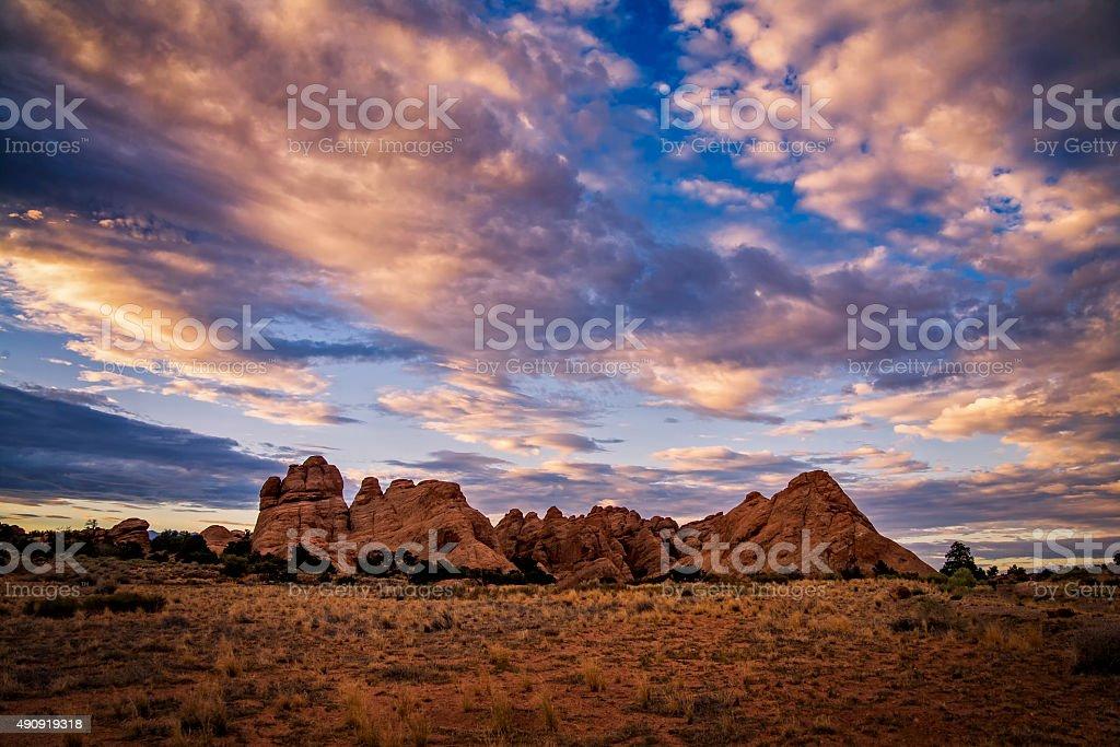 Dawn, Parque Nacional Arches, Utah. foto royalty-free