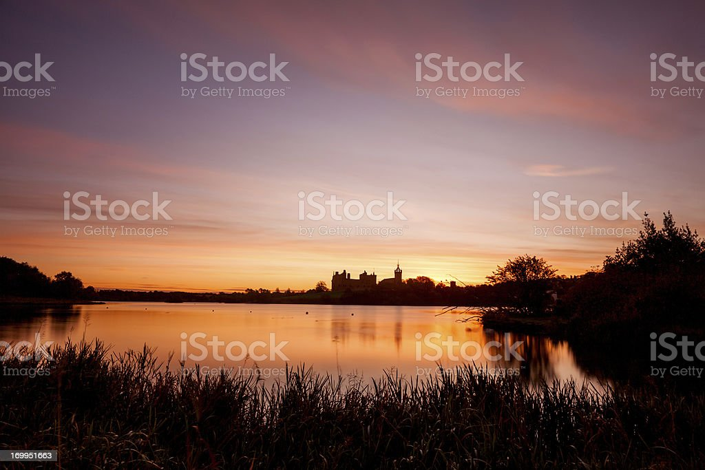Dawn At Linlithgow Loch, Scotland. stock photo