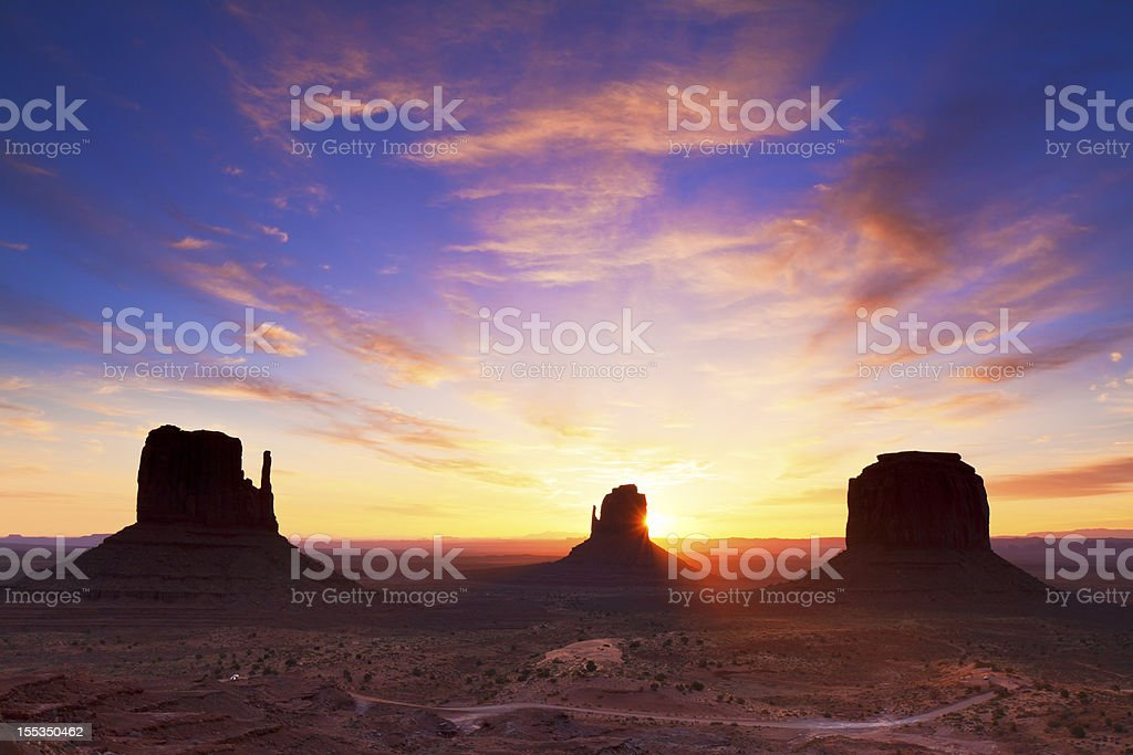 Dawn at Monument Valley royalty-free stock photo