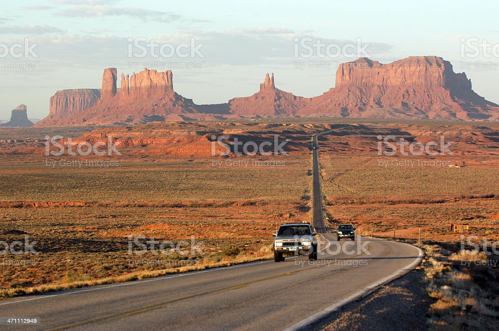Dawn at Monument valley stock photo