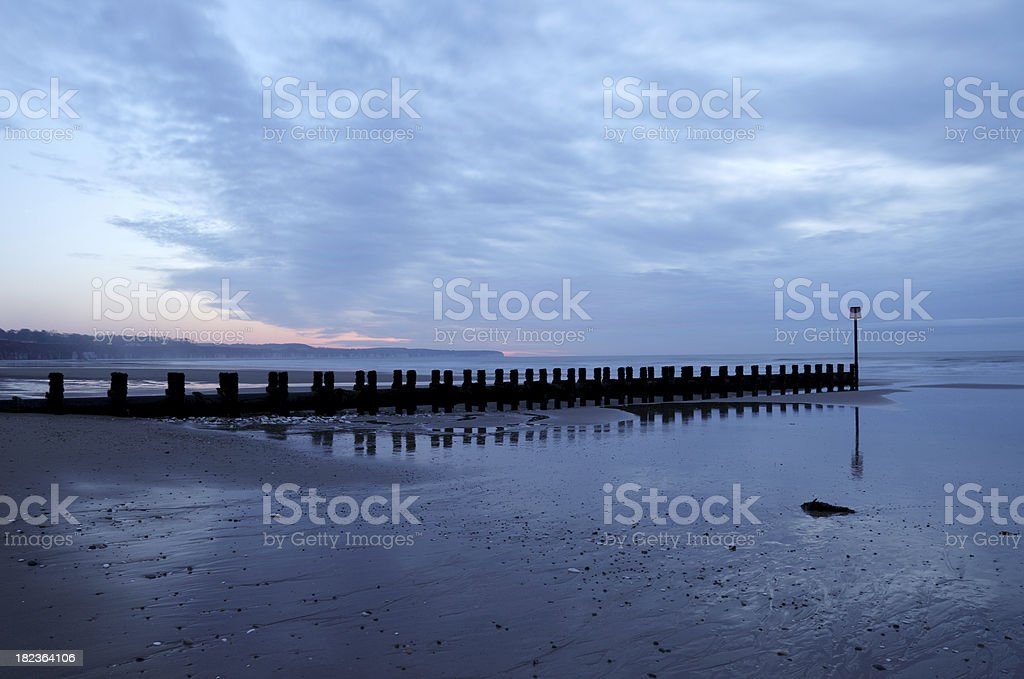 Dawn at North Beach, Bridlington stock photo